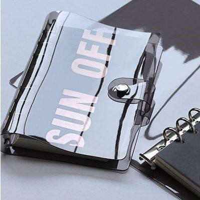 Soft PVC 6-Hole Ring Binder Black Cover - Happiness Idea