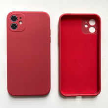 Load image into Gallery viewer, Solid Colour Silicone Case for iPhone - Happiness Idea