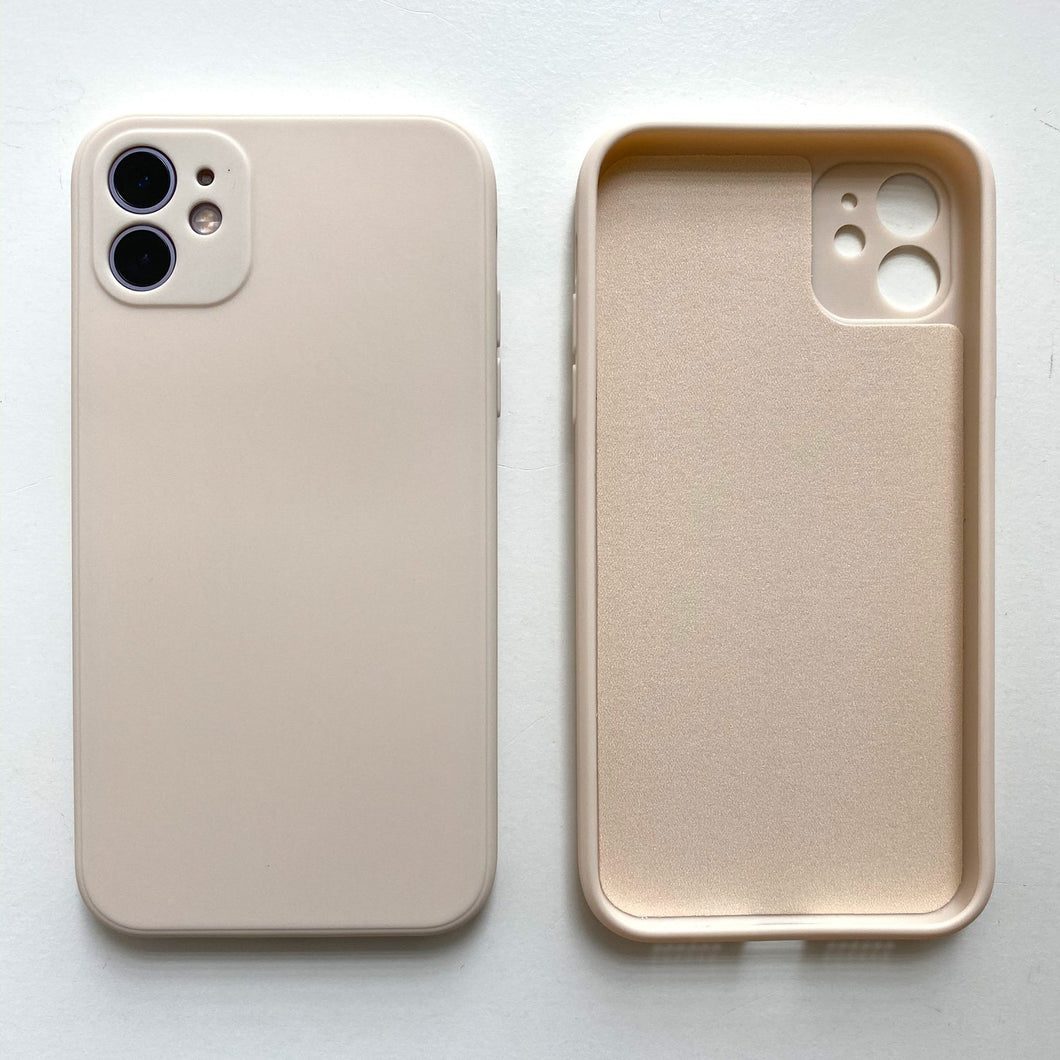 Solid Colour Silicone Case for iPhone - Happiness Idea