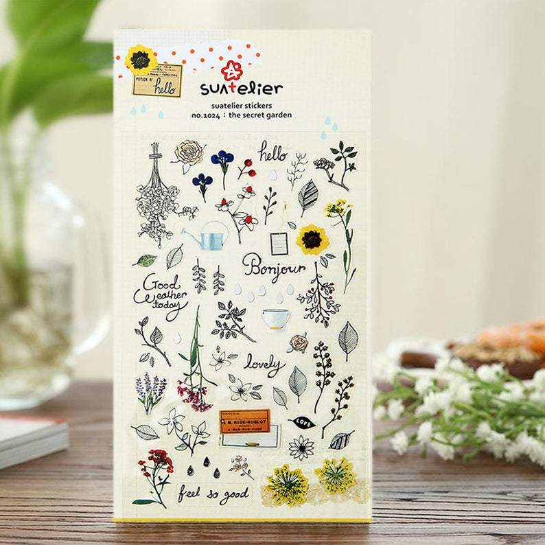 Suatelier Sticker no.1024: The Secret Garden - Happiness Idea