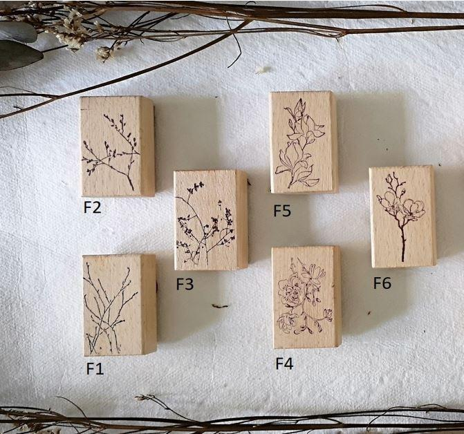 ten2sen - Fleur Collection Wooden Stamps - Happiness Idea