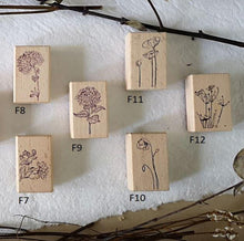 Load image into Gallery viewer, ten2sen - Fleur Collection Wooden Stamps - Happiness Idea