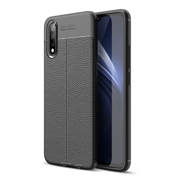 Vivo S1 Leather Design TPU Case - Happiness Idea