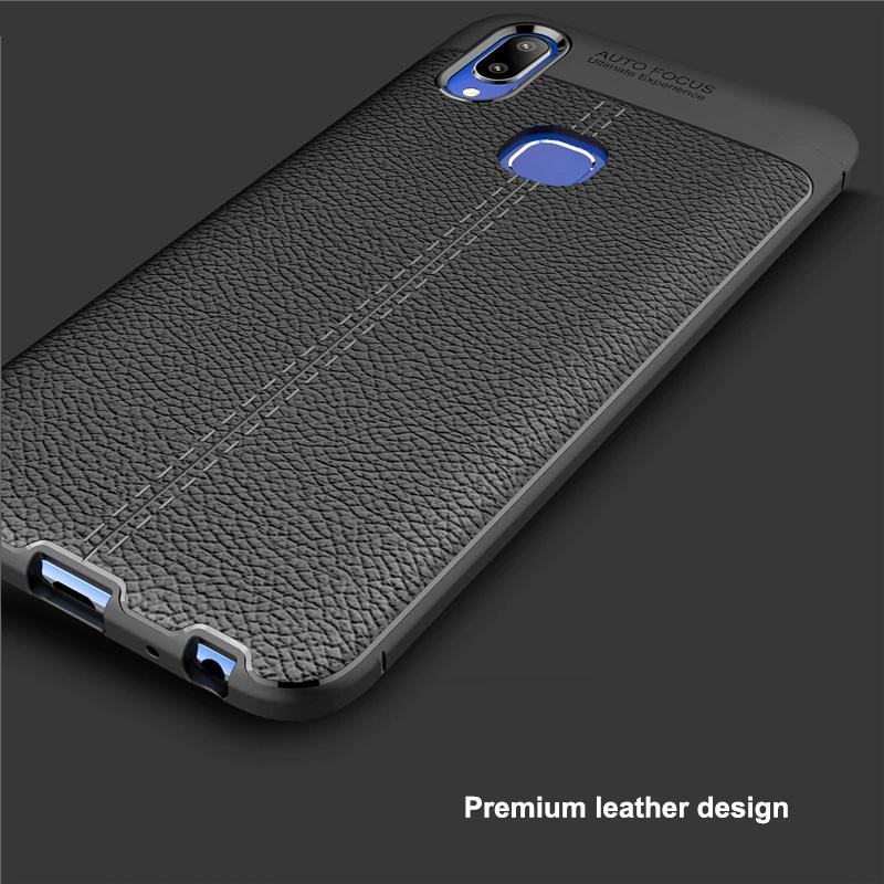 Vivo V11i Leather Design TPU Case - Happiness Idea