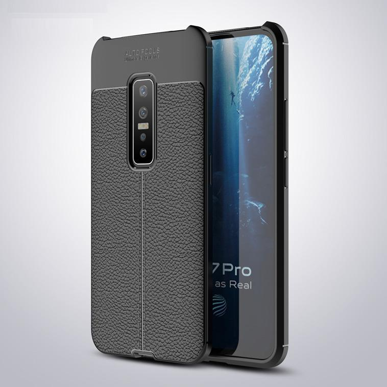 Vivo V17 Pro Leather Design TPU Case - Happiness Idea