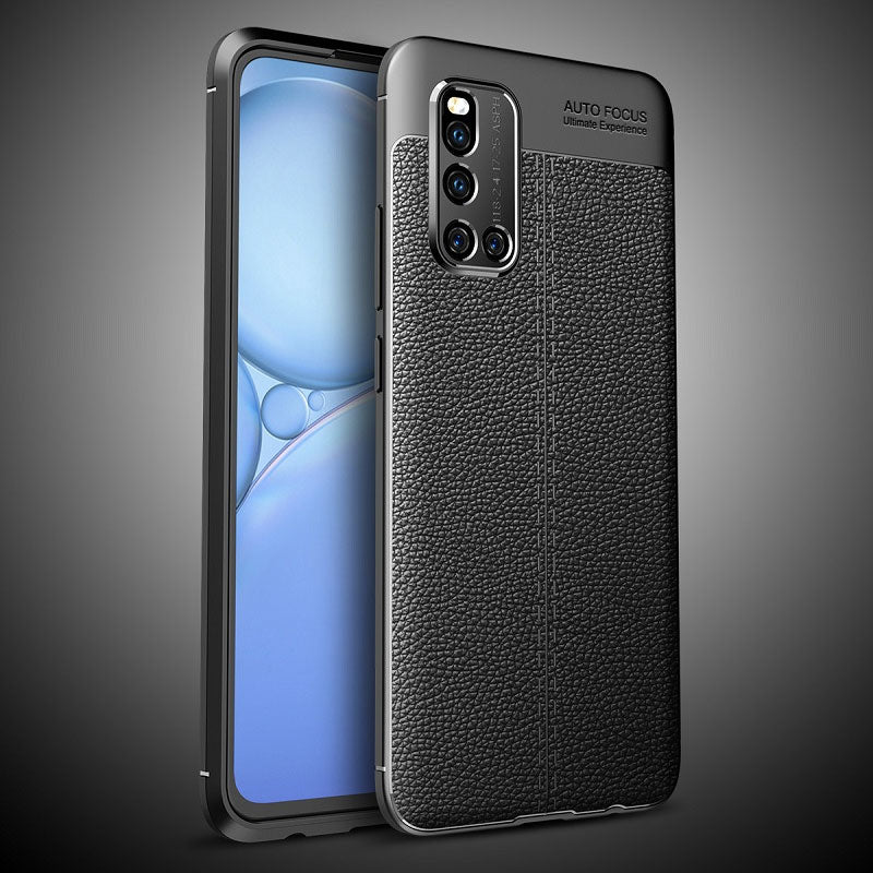 Vivo V19 Leather Design TPU Case