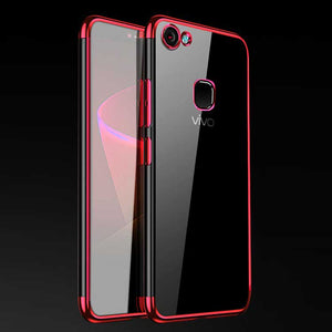 Vivo V7 Chrome Plated TPU Soft Clear Case - Happiness Idea