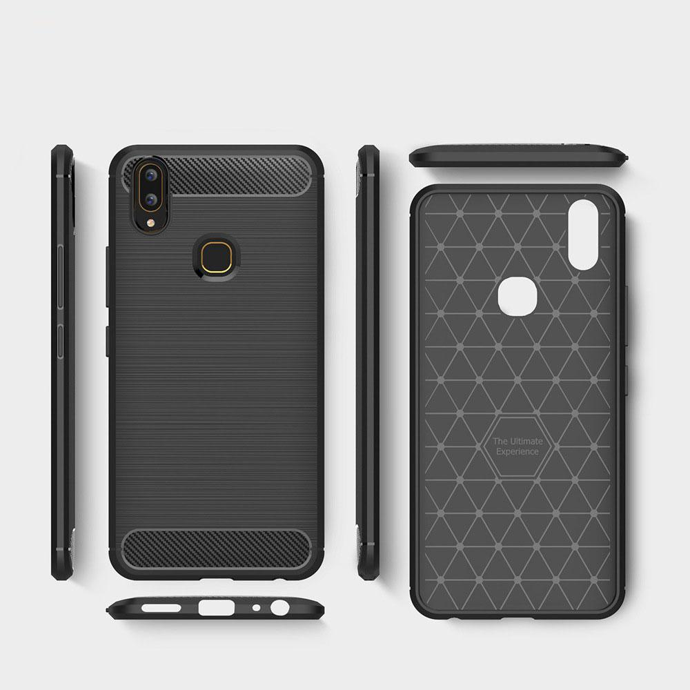 Vivo V9 Brushed Carbon Fiber Design Case - Happiness Idea