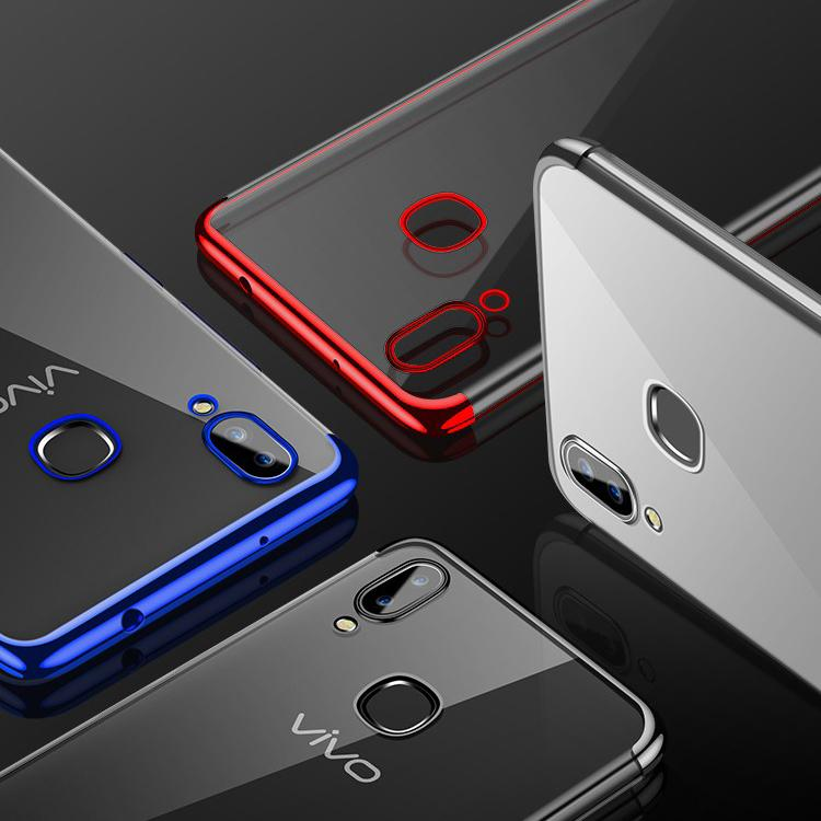 Vivo V9 Chrome Plated TPU Soft Clear Case - Happiness Idea
