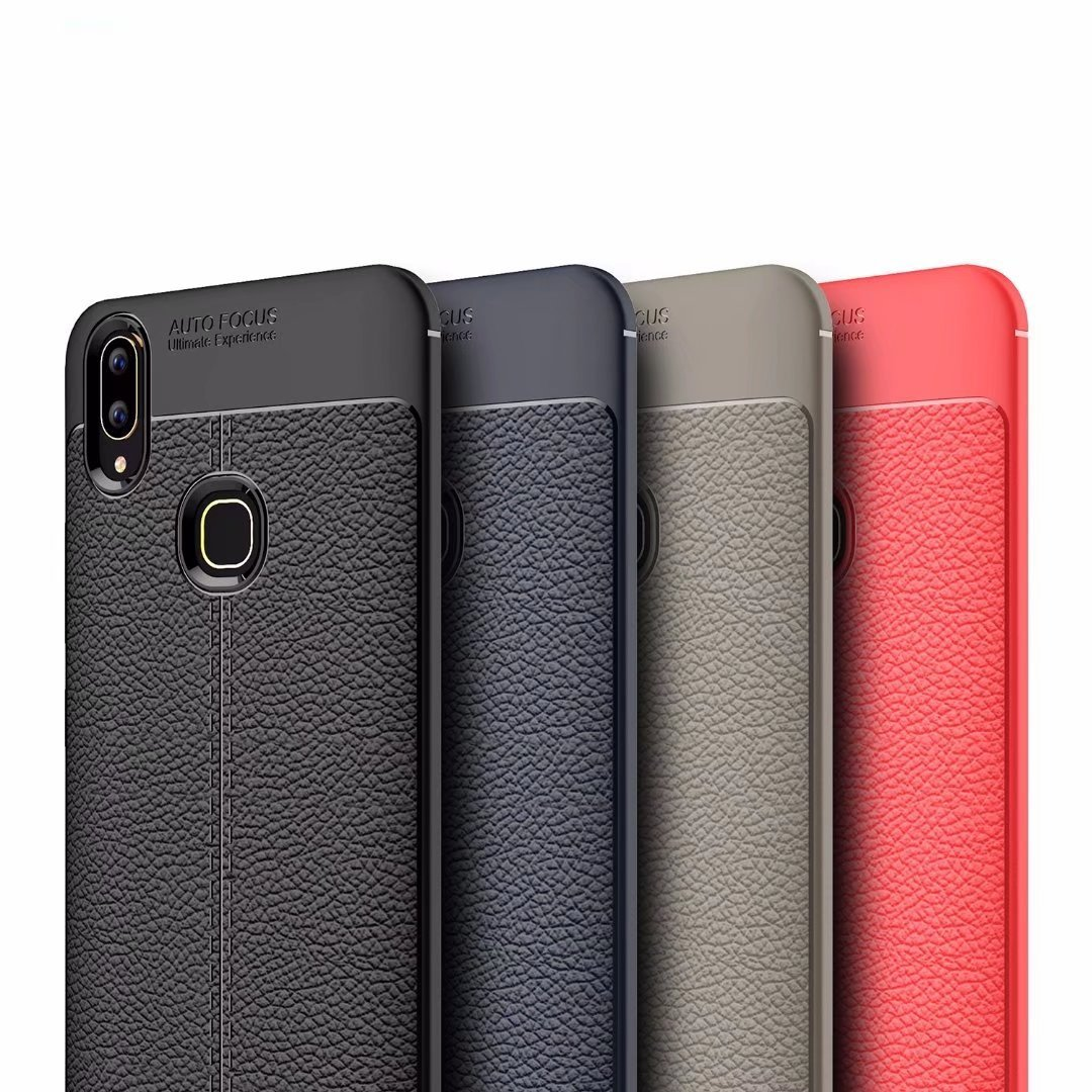 Vivo V9 Leather Design TPU Case - Happiness Idea
