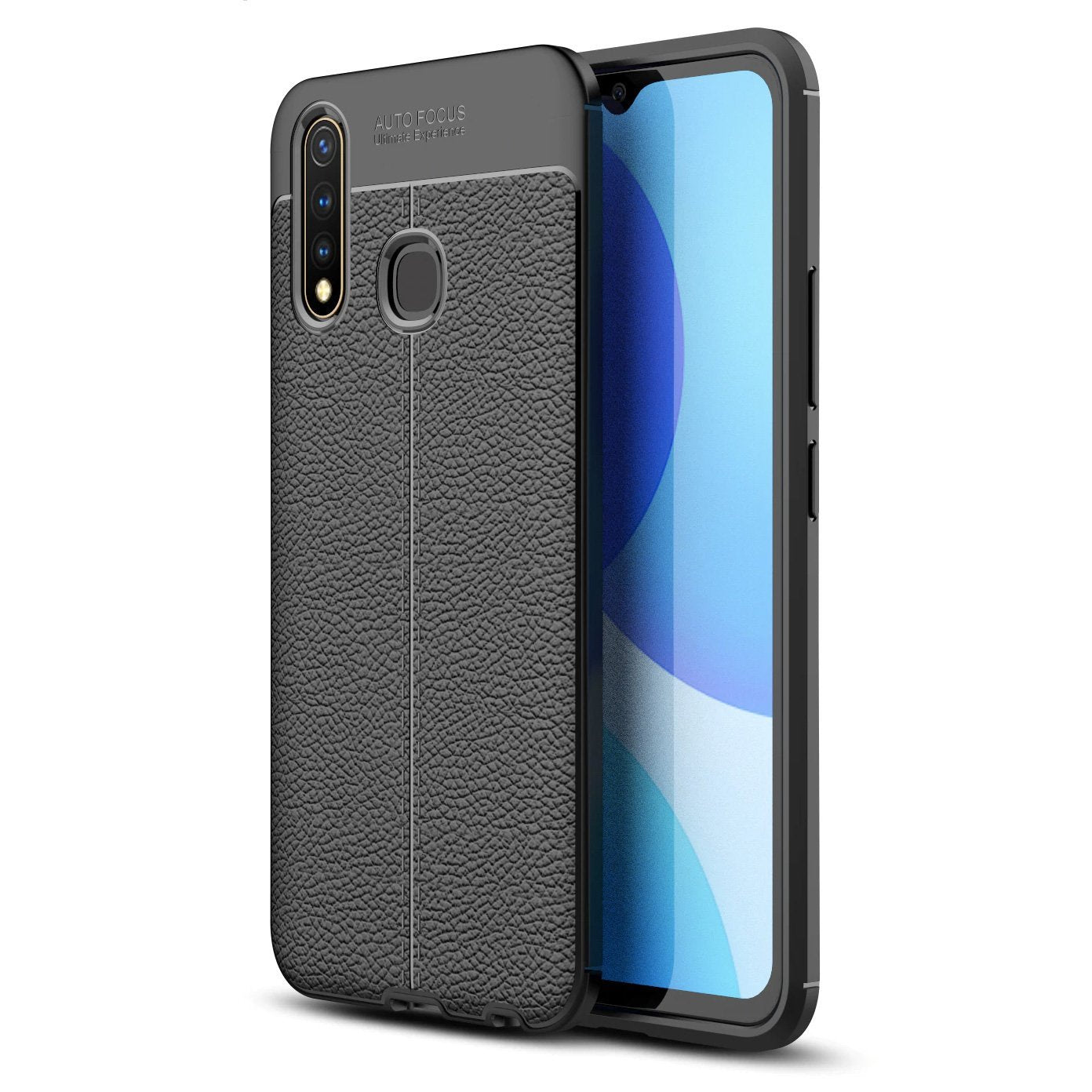 Vivo Y19 Leather Design TPU Case - Happiness Idea