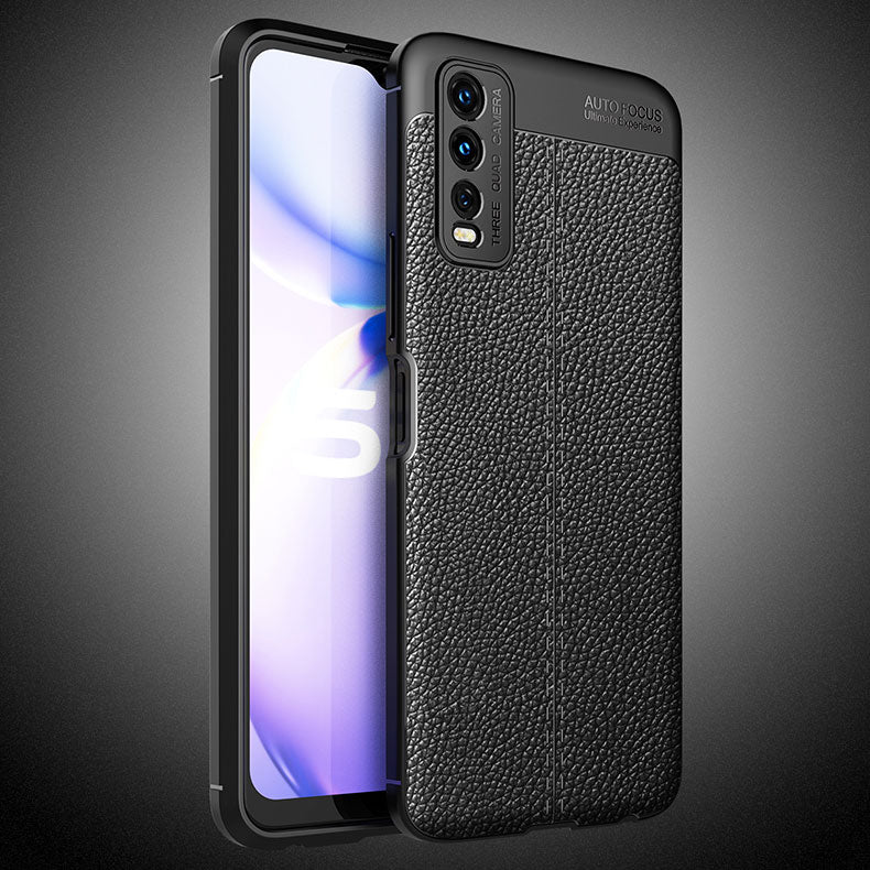 Vivo Y20 Leather Design TPU Case