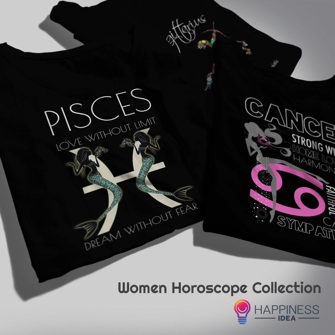 Women Horoscope Design T-shirts Collection - Happiness Idea