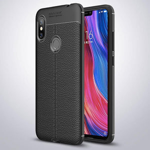 Xiaomi Mi A2 Leather Design TPU Case - Happiness Idea