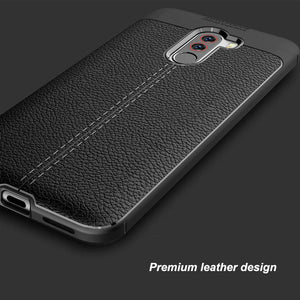 Xiaomi Pocophone F1 Leather Design TPU Case - Happiness Idea