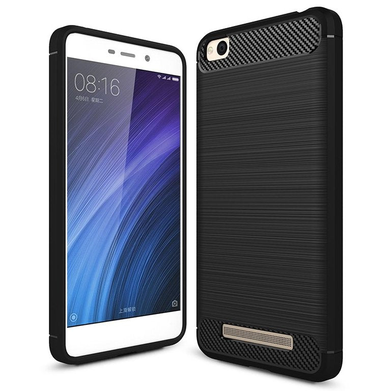 Xiaomi Redmi 4A Brushed Carbon Fiber Design Silicone Case - Happiness Idea