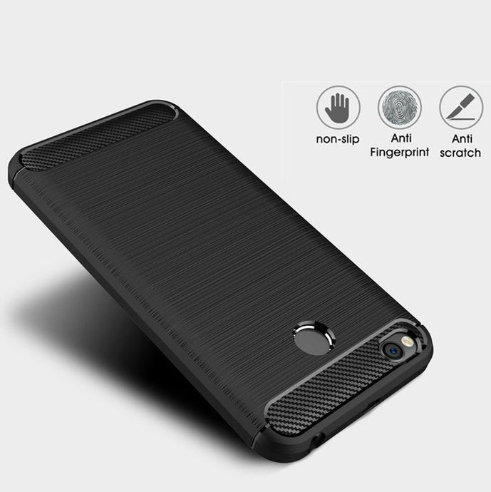 Xiaomi Redmi 4X Brushed Carbon Fiber Design Case - Happiness Idea