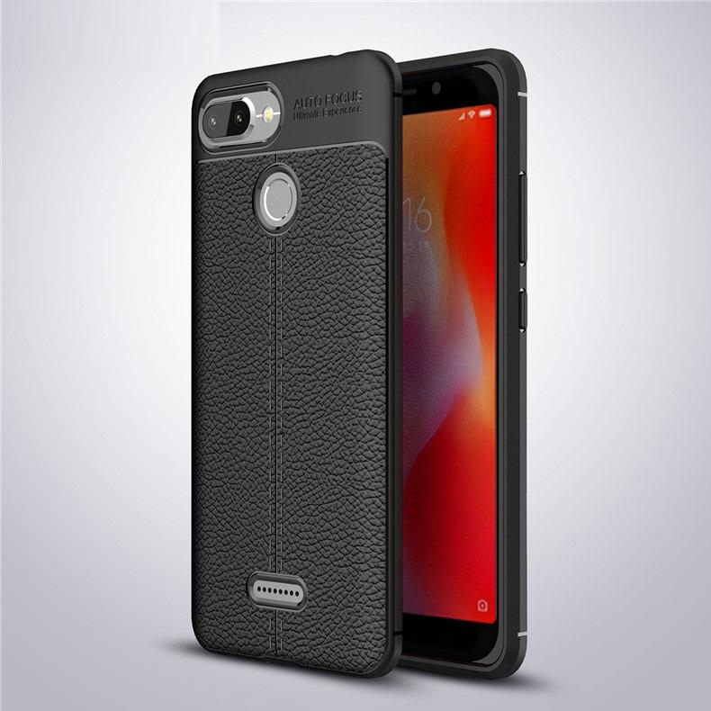 Xiaomi Redmi 6 Leather Design TPU Case - Happiness Idea