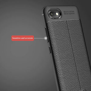 Xiaomi Redmi 6A Leather Design TPU Case - Happiness Idea