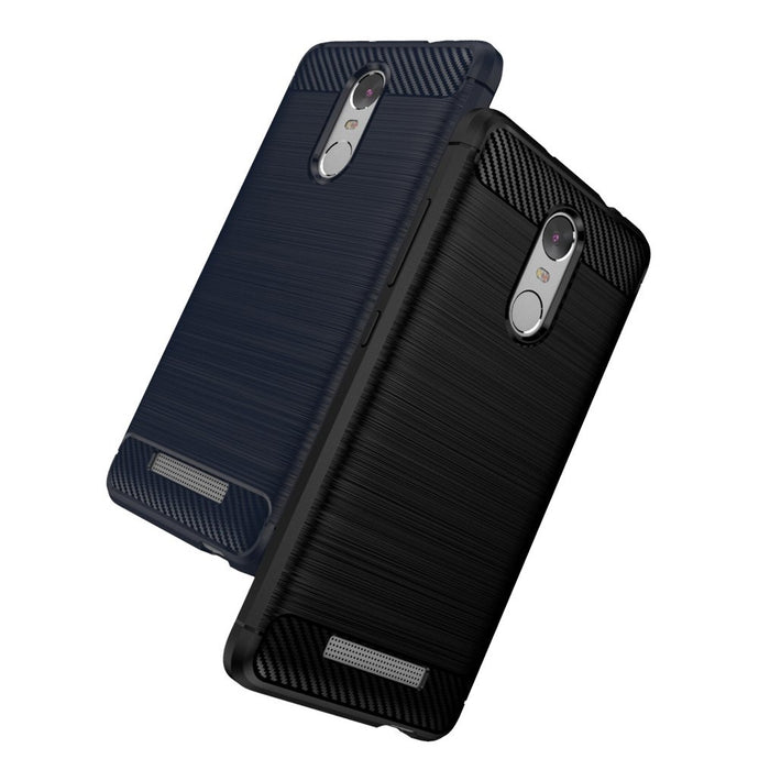 Xiaomi Redmi Note 3 Brushed Carbon Fiber Design Silicone Case - Happiness Idea