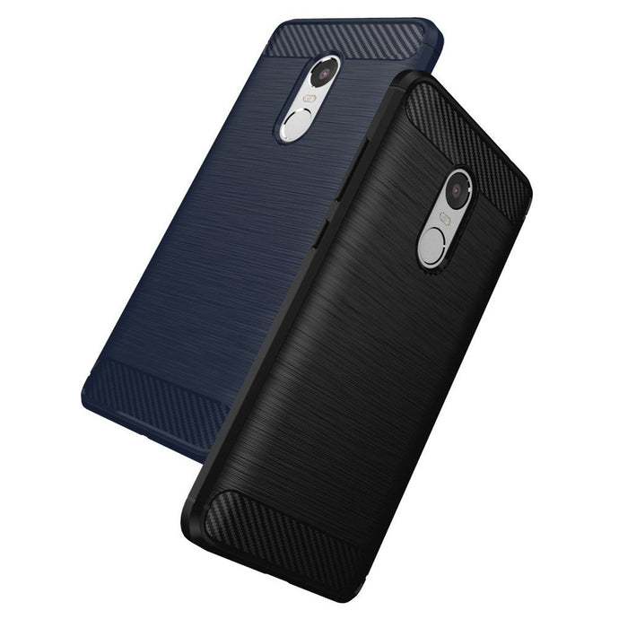 Xiaomi Redmi Note 4 Brushed Carbon Fiber Design Silicone Case - Happiness Idea