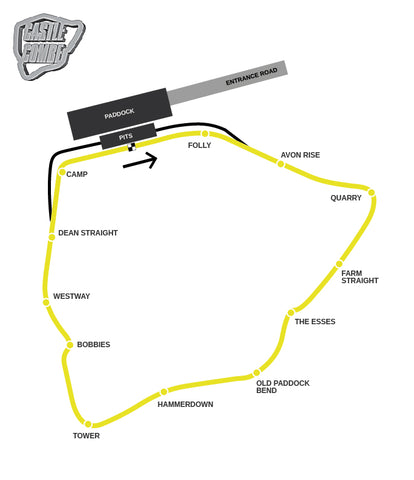 Castle Combe detailed track map