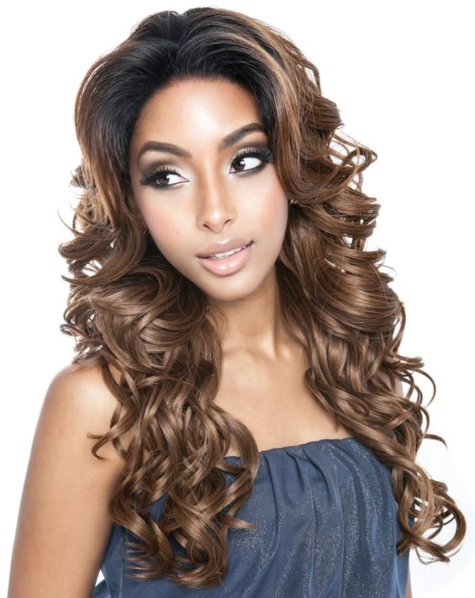 Brown Sugar Frontal Lace Human Hair Mix Lace Front Wig BSF04