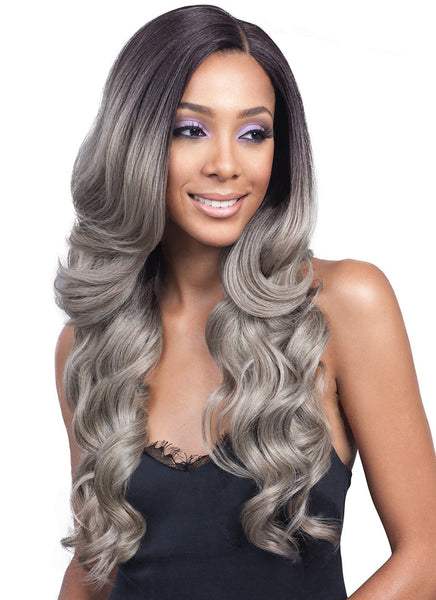 "Bobbi Boss 13""x4"" Hand-Tied Swiss Lace Front Wig MLF224 KEESHANA (discount applied)"