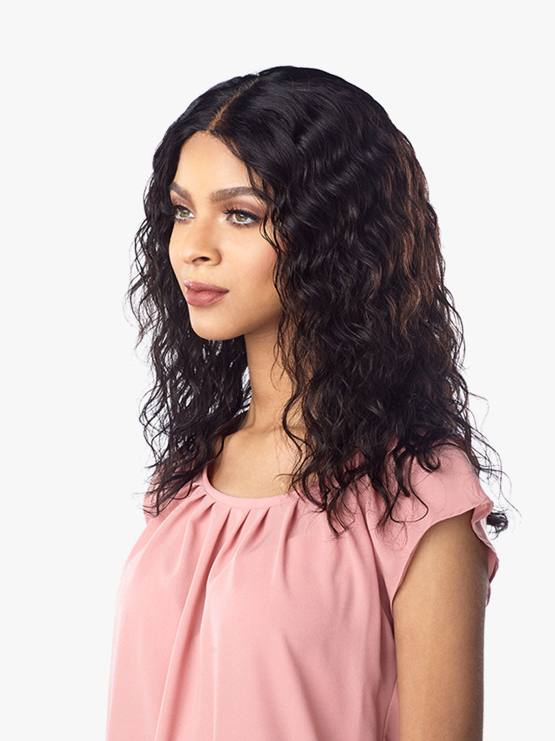 Sensationnel 100% Virgin Unprocessed HH Lace Front Wig NATURAL WAVE
