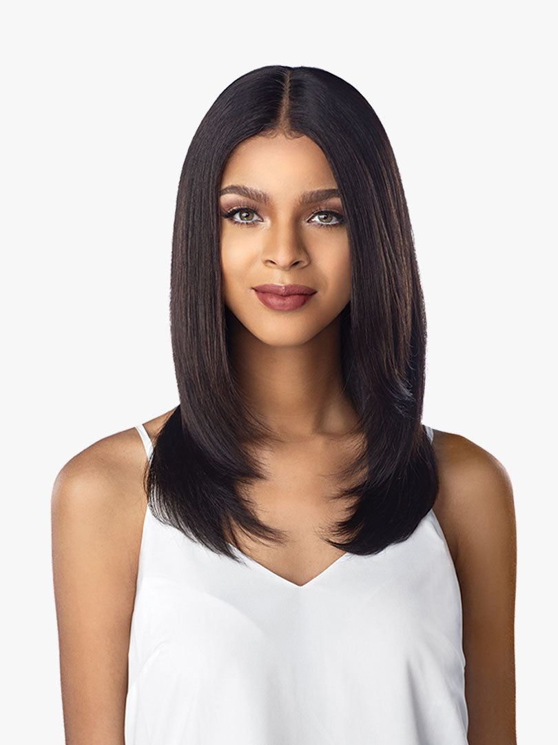 Sensationnel 100% Virgin Unprocessed Human Hair Lace Front Wig STRAIGHT