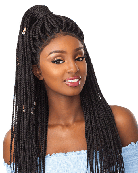 Sensationnel Cloud 9 4x4 Multi Parting Swiss Lace Wig BOX BRAID LARGE