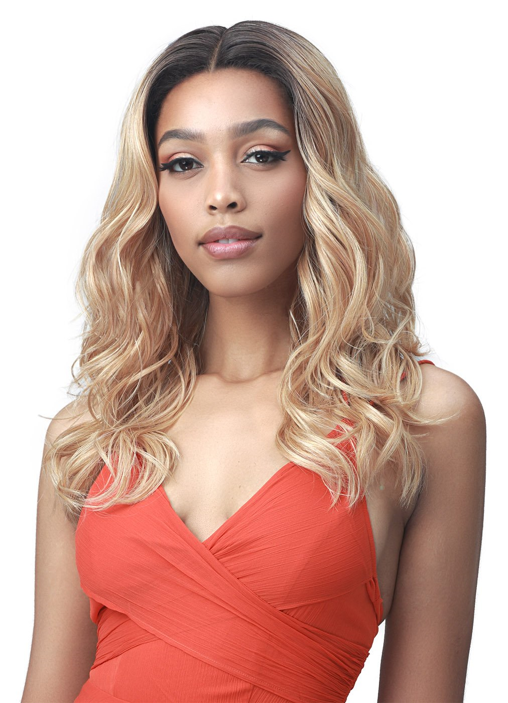 "Bobbi Boss Synthetic 5"" Deep Part Lace Front Wig MLF569 ADDISON"
