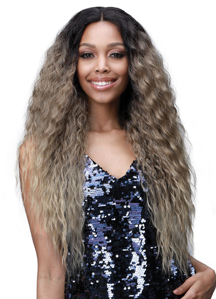 "Bobbi Boss 3"" Deep Lace Part Synthetic Wig MLF384 LYRICA"