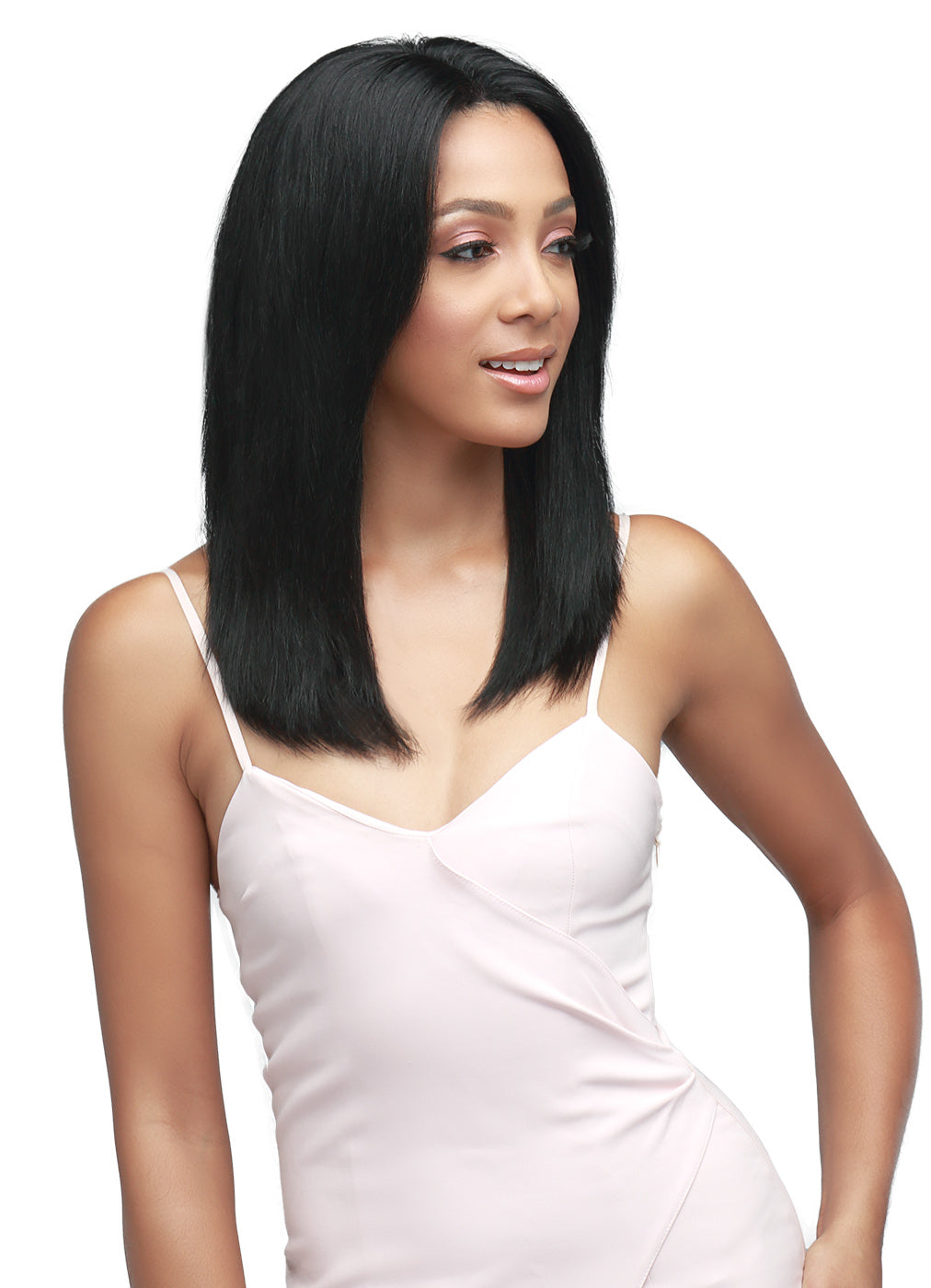 Bobbi Boss Indiremi Virgin Remy 360 HD Lace Wig MHRLF005 NATURAL STRAIGHT 18""