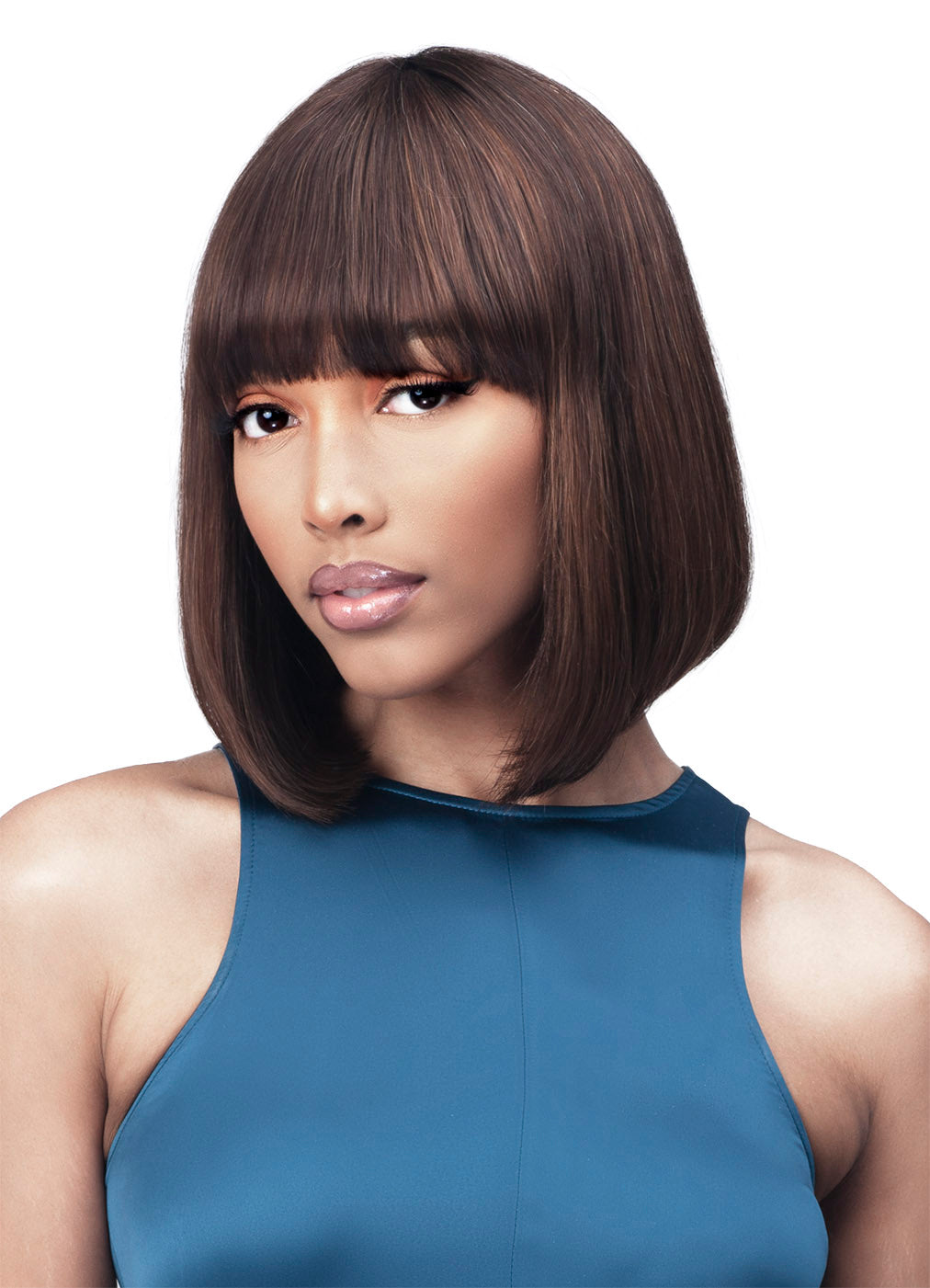 Bobbi Boss Unprocessed Human Hair Sleek & Chic Wig MH1284 NADIA