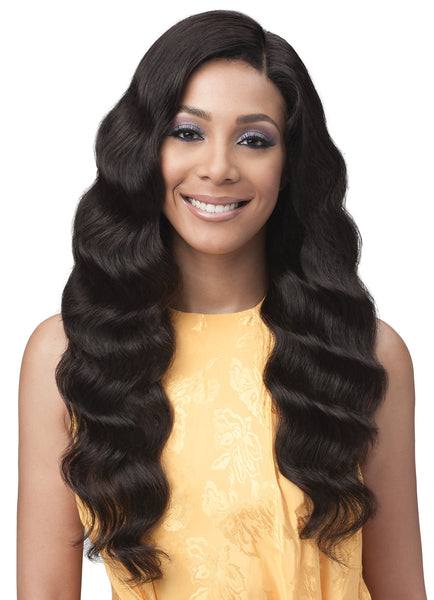 Bobbi Boss Unprocessed Remy Bundle Hair Full Lace Wig BNGLWOC28 OCEAN WAVE 28""
