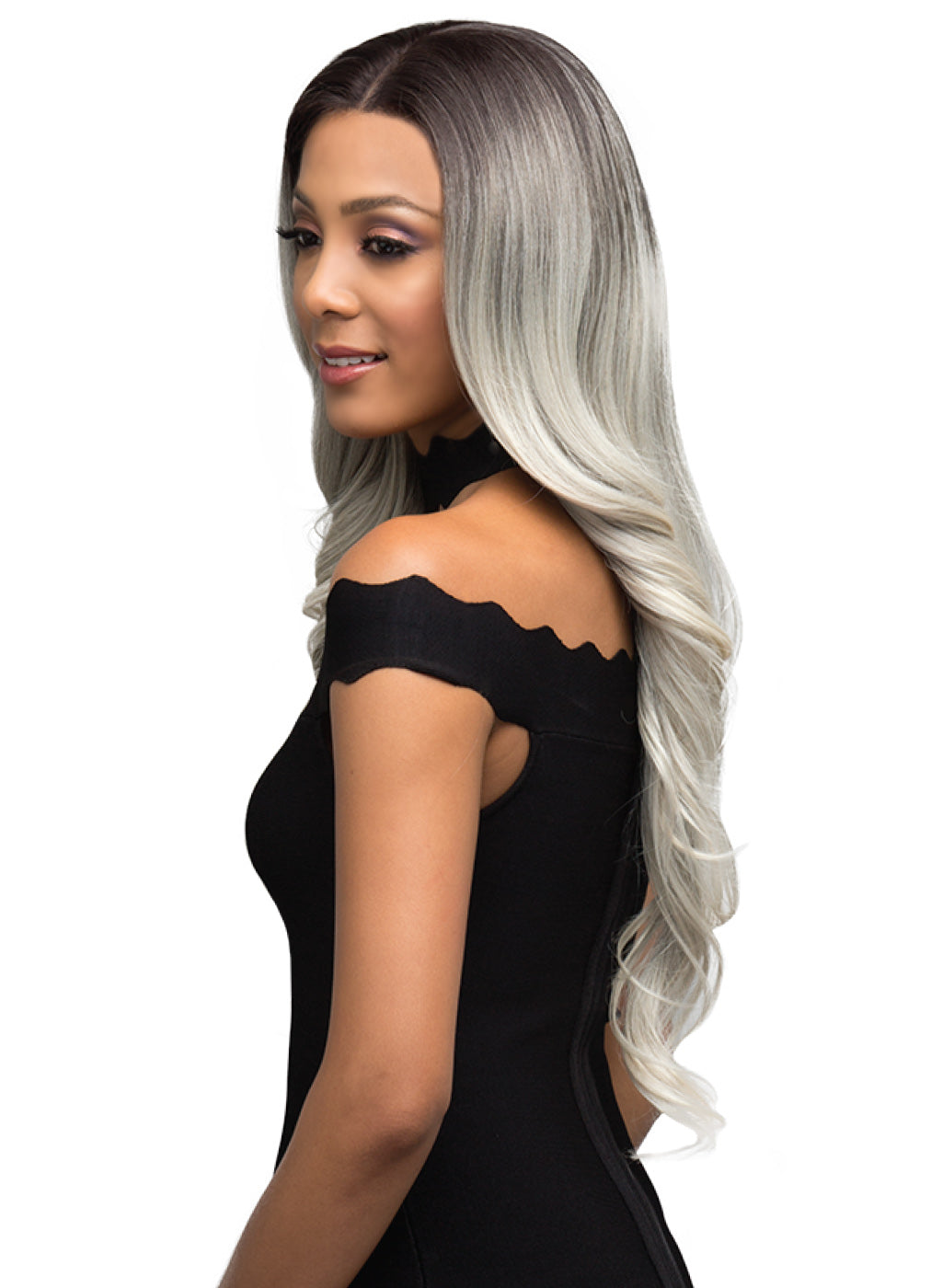 Bobbi Boss Human Hair Blend 360 Swiss Lace Front Wig MBLF360 DINAH