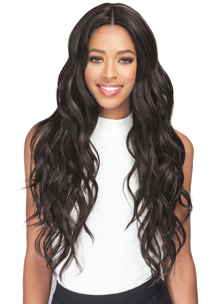 Bobbi Boss Human Hair Blend Swiss Lace Front Wig MBLF140 FREYA