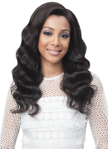 Bobbi Boss Unprocessed Remy Bundle Hair Full Lace Wig BNGLWOC24 OCEAN WAVE 24""