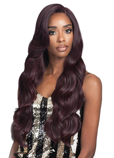 "Bobbi Boss Human Hair Blend 5"" Deep Lace Front Wig MBLF300 MIKAYLA"