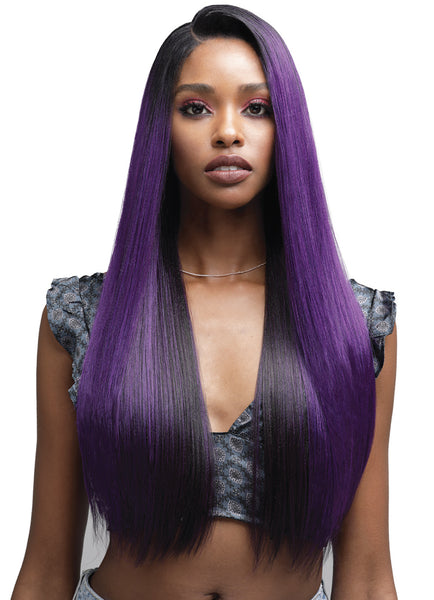 "Bobbi Boss Human Hair Blend 13"" X 4"" Deep Lace Front Wig MBLF180 DAYANA"