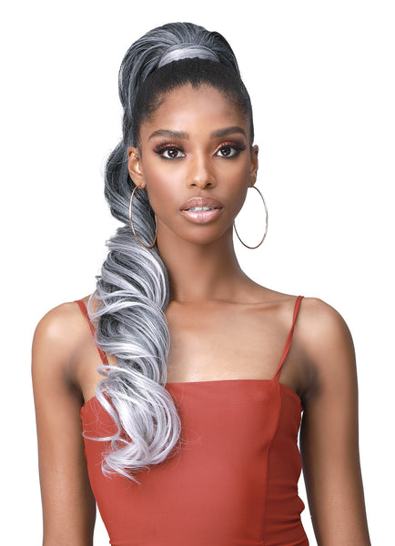 Bobbi Boss Human Hair Blend Tress Up Ponytail LOOSE CURL 28