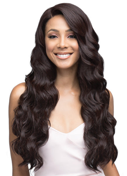 Bobbi Boss Human Hair Blend Swiss Lace Front Wig MBLF260 RAE