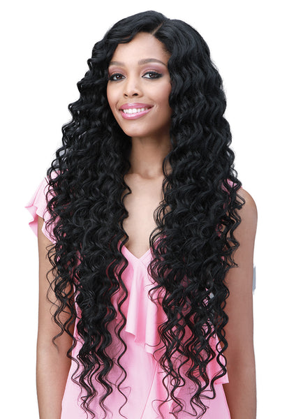 Bobbi Boss Miss Origin Human Hair Blend 13x6 Swiss Lace Front Wig MOGLWOC32 OCEAN WAVE 32