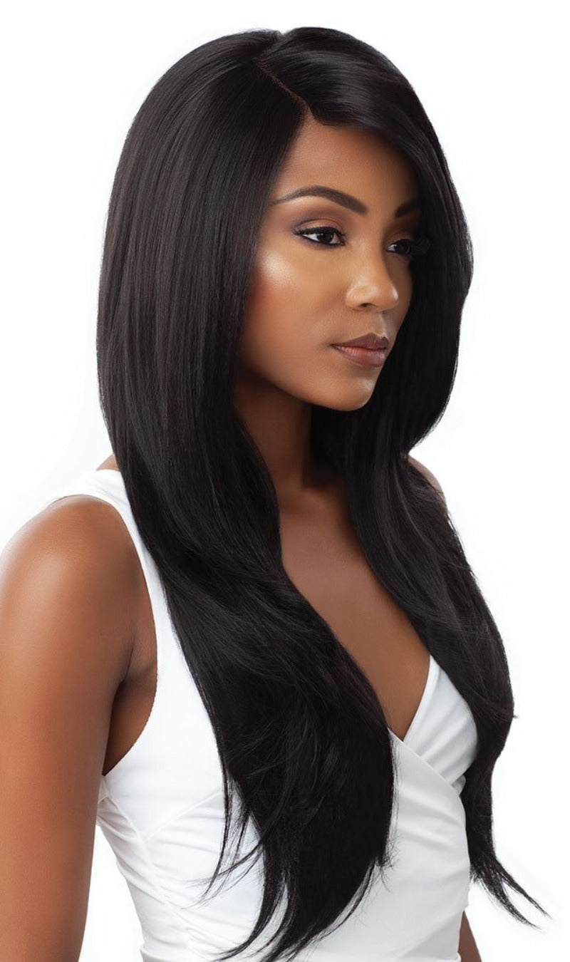 Outre & Play Human Hair Blend Bundle Edition 360 Lace Wig NATURAL STRAIGHT