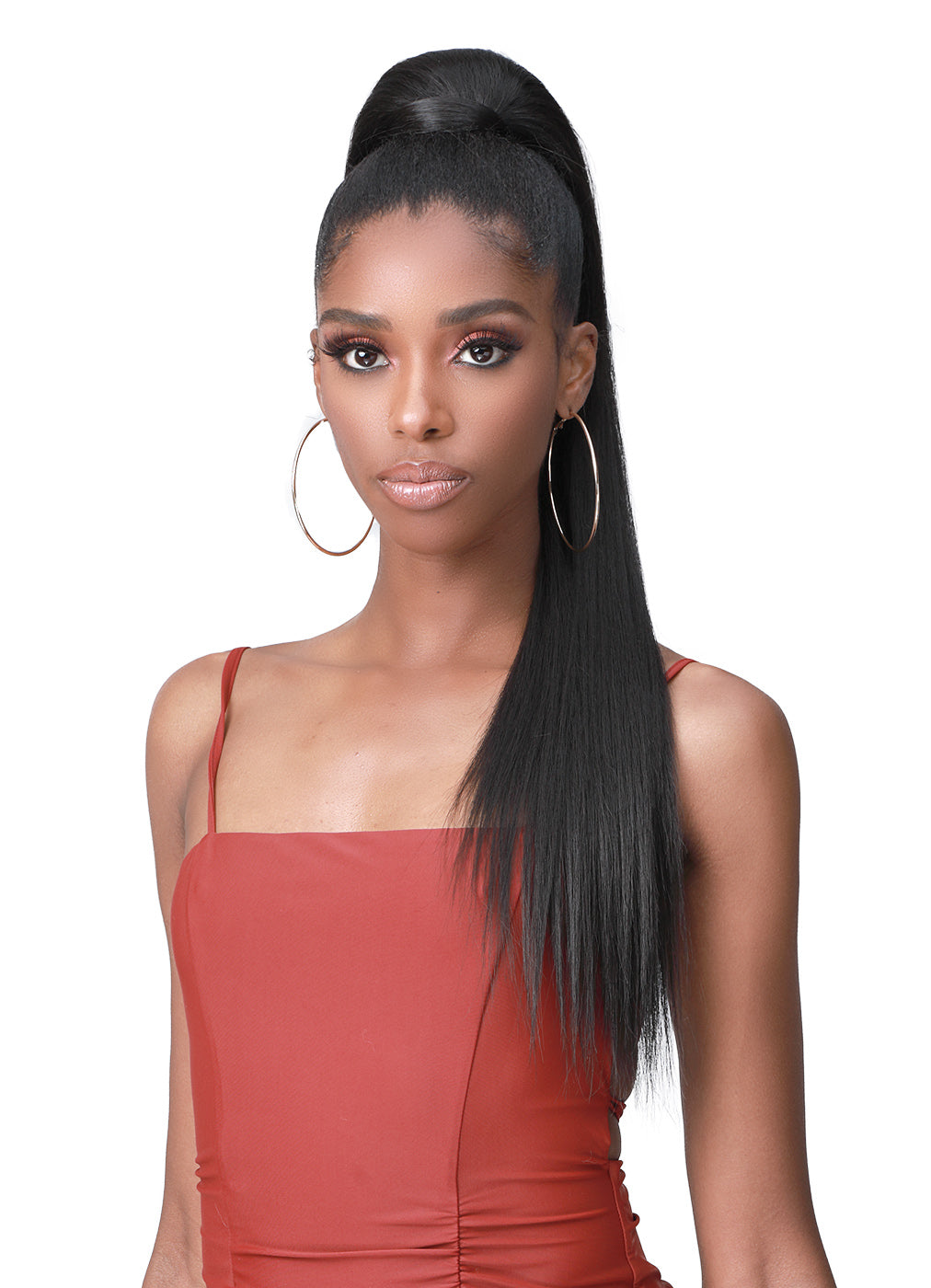 Bobbi Boss Human Hair Blend Tress Up Ponytail YAKY STRAIGHT 28