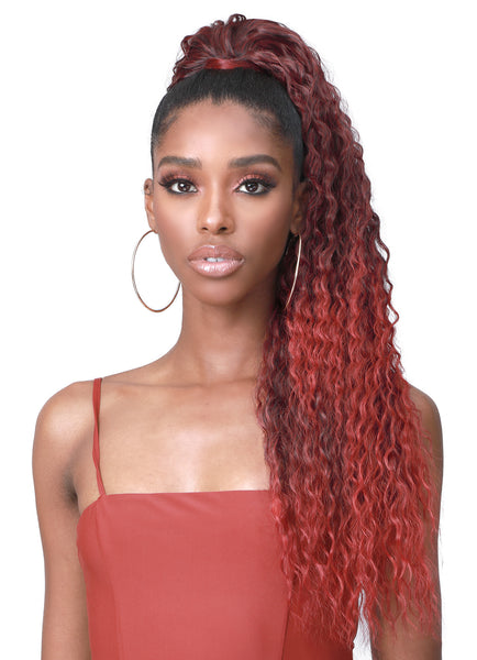 Bobbi Boss Human Hair Blend Tress Up Ponytail BRAZILIAN WAVE 28