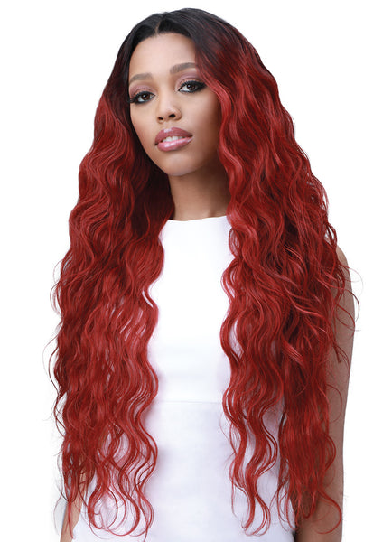 Bobbi Boss Human Hair Blend 13X6 Frontal Lace Wig MOGLWBO32 BODY WAVE 32