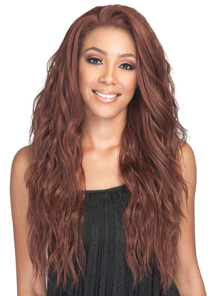 Bobbi Boss Human Hair Blend Swiss Lace Front Wig MBLF270 AMBRA
