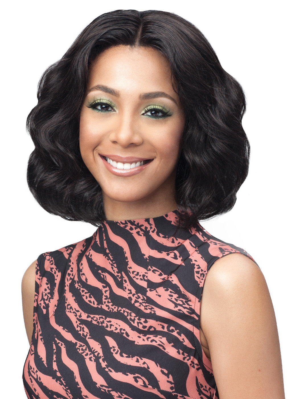 Bobbi Boss Unprocessed Remy Bundle Hair Full Lace Wig BNGLWOC12 OCEAN WAVE 12""